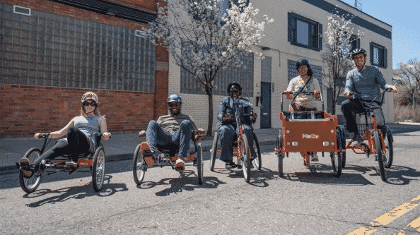 group of people with all abilities riding bikes