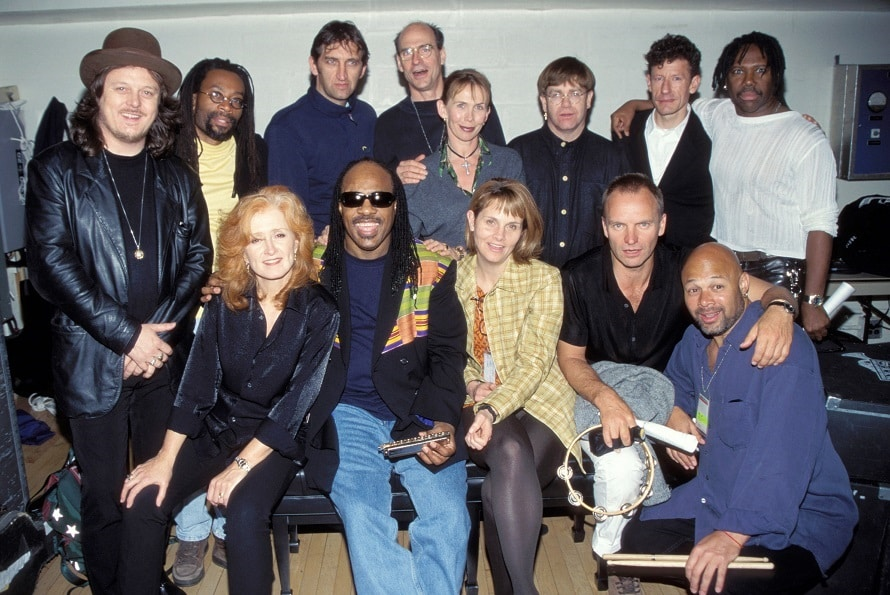 Zucchero, James Taylor, Trudie Styler, Elton John,Lyle Lovett, Bonnie Raitt, Stevie Wonder, Shawn Colvin, & Sting at the Carnegie Hall in New York, New York