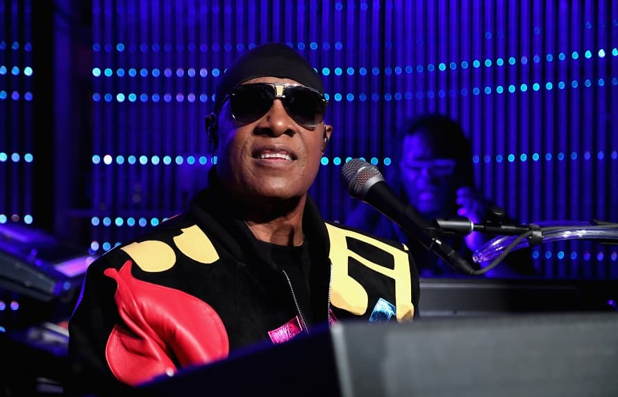 Stevie Wonder performs onstage during The Stevie Wonder Song Party at The Peppermint Club