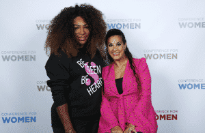 Serena Williams and Maysoon Zayid at the Pennsylvania Conference for Women 2018 in Philadelphia.