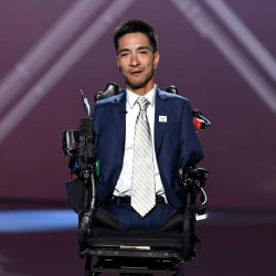 Rob Mendez accepts the Jimmy V Award For Perseverance onstage during The 2019 ESPYs in Los Angeles, California.