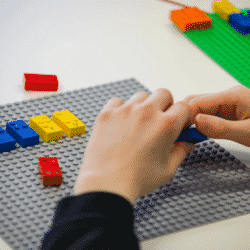 Braille Legos on a gameboard