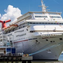 Carnival Cruise Ship pictured at dock