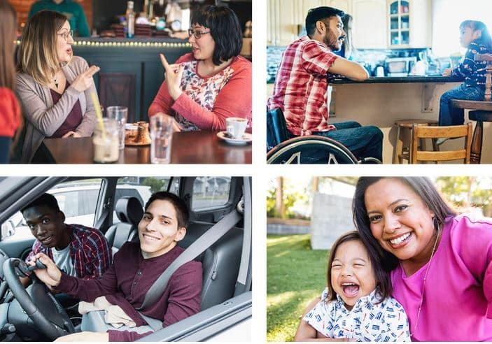 Verizon's collage of disability images