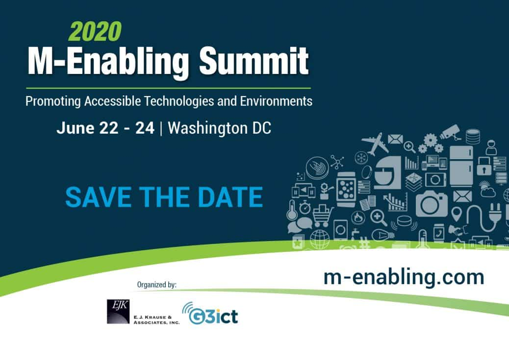 M-Enabling Summit 2020 flyer announcing the dates and location